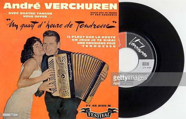 Single sleeve record of french accordion player Andre Verchuren France 60's