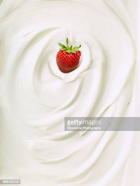 Single Strawberry in Cream