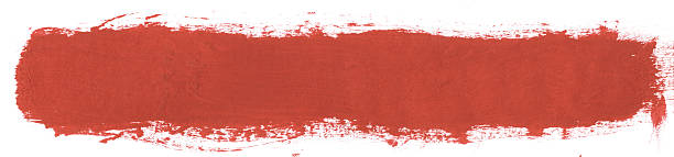 Single Thick Red Paint Line