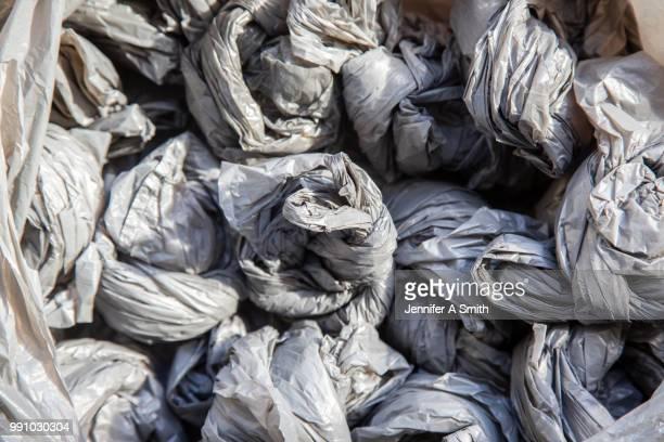 single use plastic bags - ビニール袋 ストックフォトと画像