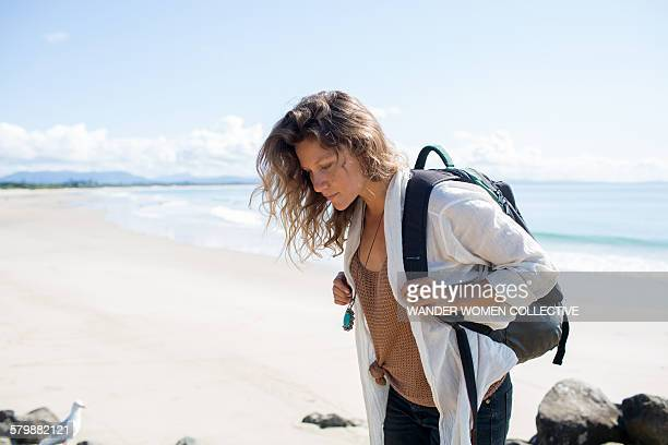Single woman travelling solo Australia Byron Bay