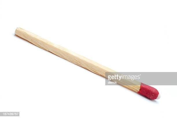 single wooden match stick