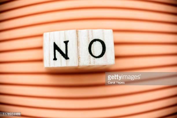 single word no in orange - voting stock pictures, royalty-free photos & images