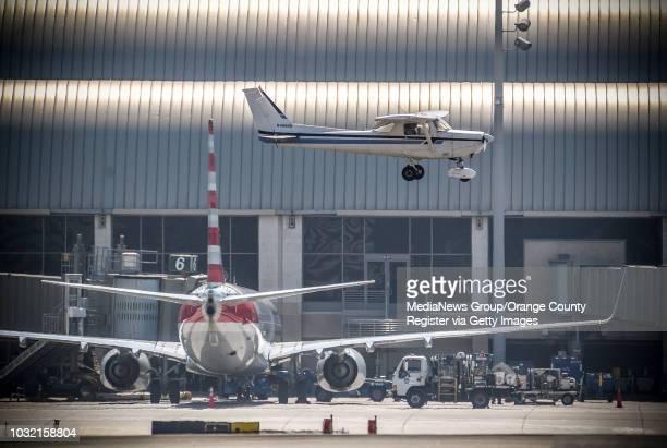 A singleengine Cessna lands runway 20L at John Wayne Airport in Santa Ana California on Wednesday September 6 2017