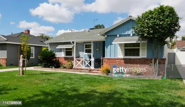 single-family home - san fernando california stock photos and pictures