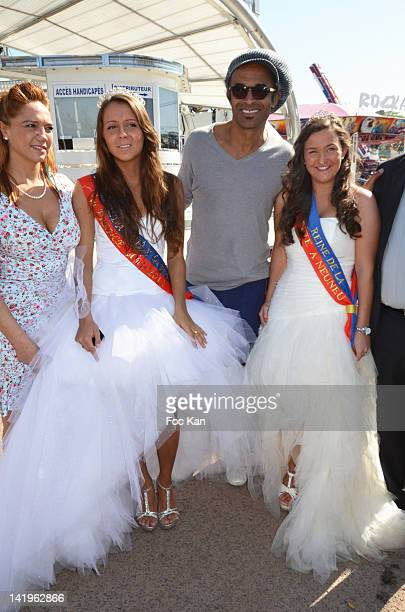 PARIS FRANCE MARCH Singrid Campion Swanny LapaumerouzieÊ'Miss Foire du Trone 2012' Yannick NoahÊand Tiphaine Gratepanche 'Miss Fete ˆ Neuneu 2012'...