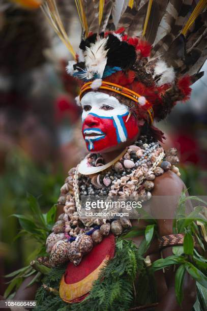 Singsing group from Hagen in Western Highlands performing at Hagen Show Papua New Guinea