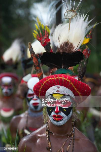 Singsing group from Tambul in Western Highlands at Mt Hagen Show Papua New Guinea