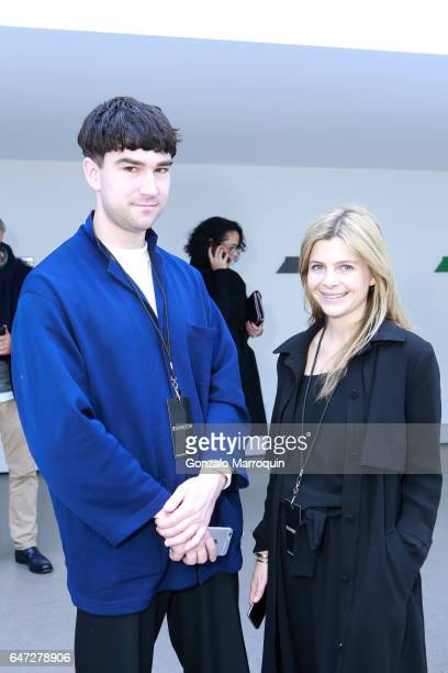 Sinisa Mackovic and Marie Becker attended the Independent Art Fair at Spring Studios on March 2 2017 in New York City