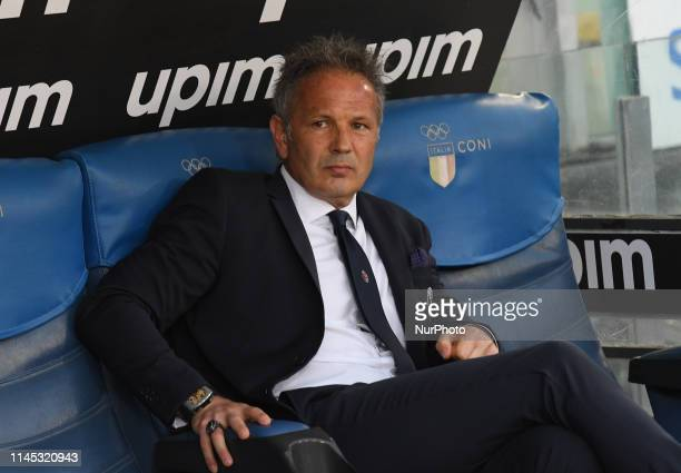 Sinisa Mihajlovic during the Italian Serie A football match between SS Lazio and Bologna at the Olympic Stadium in Rome on may 20 2019
