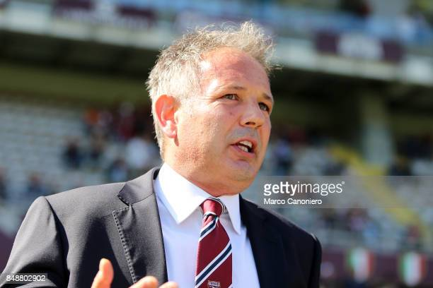 Sinisa Mihajlovic head coach of Torino FC looks on before the Serie A football match between Torino FC and Uc Sampdoria
