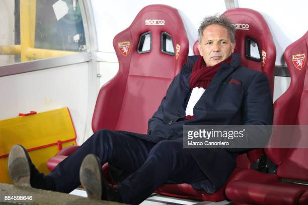 Sinisa Mihajlovic head coach of Torino FC looks on before the Serie A football match between Torino FC and Atalanta Bergamasca Calcio The match ended...