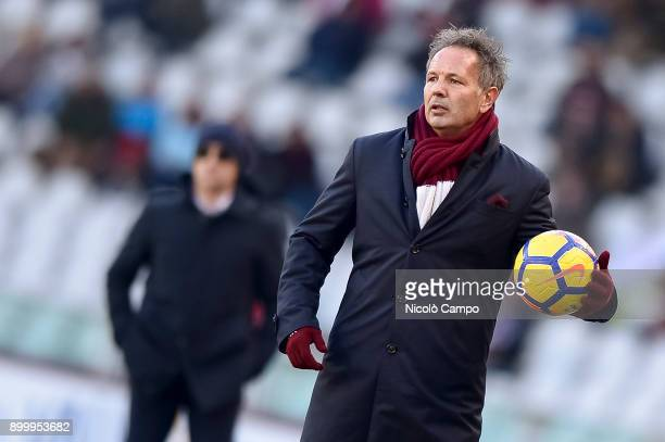 Sinisa Mihajlovic head coach of Torino FC looks on during the Serie A football match between Torino FC and Genoa CFC The match ended in a 00 tie