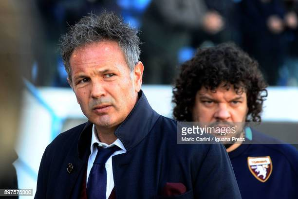 Sinisa Mihajlovic head coach of Torino FC looks on prior the beginning of the serie A match betweenSpal and Torino FC at Stadio Paolo Mazza on...