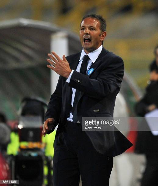 Sinisa Mihajlovic manager of Bologna during the Serie A match between Bologna and Roma at the Stadio Dall'Ara on November 08 2008 in Bologna Italy