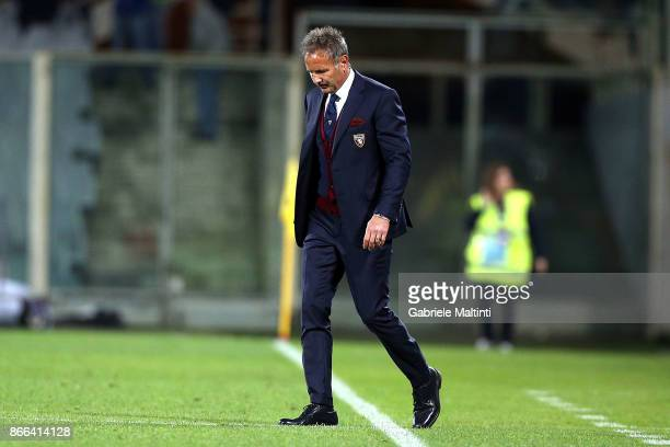 Sinisa Mihajlovic manager of FC Torino gestures during the Serie A match between ACF Fiorentina and Torino FC at Stadio Artemio Franchi on October 25...