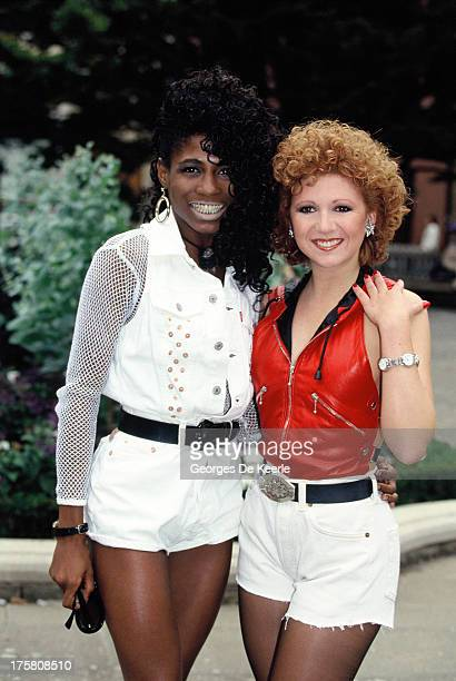 Sinitta and English actress Bonnie Langford in 1990 ca in London England