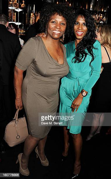 Sinitta and mother Miquel Brown attend an after party following the press night performance of 'Midnight Tango' at Gaucho on February 5 2013 in...