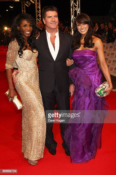 Sinitta and Simon Cowell arrive at the National Television Awards held the at The O2 Arena on January 20 2010 in London England