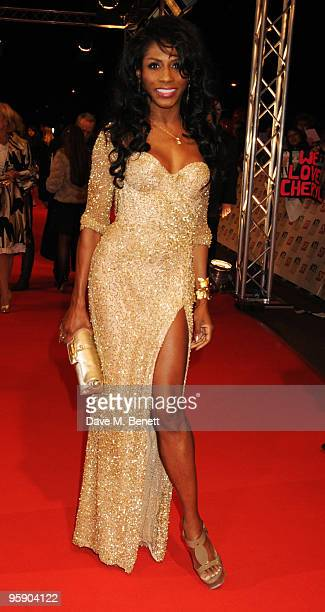 Sinitta arrives at the National Television Awards at the O2 Arena on January 20 2010 in London England