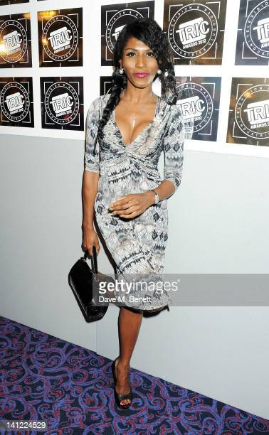 Sinitta arrives at the TRIC Television and Radio Industries Club Awards at The Grosvenor House Hotel on March 13 2012 in London England