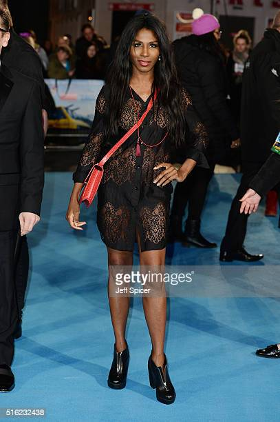 Sinitta arrives for the European premiere of 'Eddie The Eagle' at Odeon Leicester Square on March 17 2016 in London England