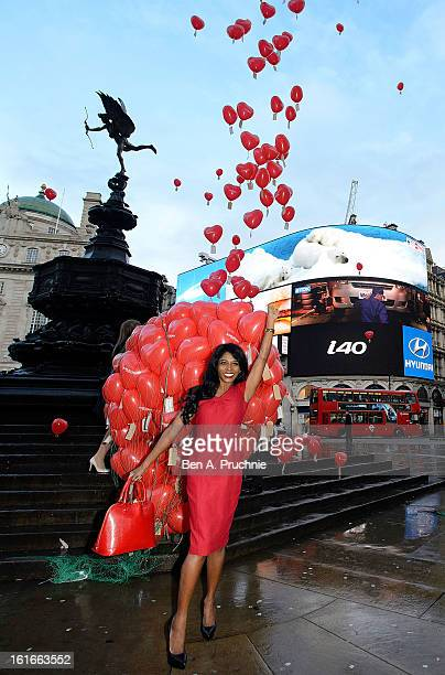 Sinitta attends a photocall to launch Love London Day at Picadilly Circus on February 14 2013 in London England