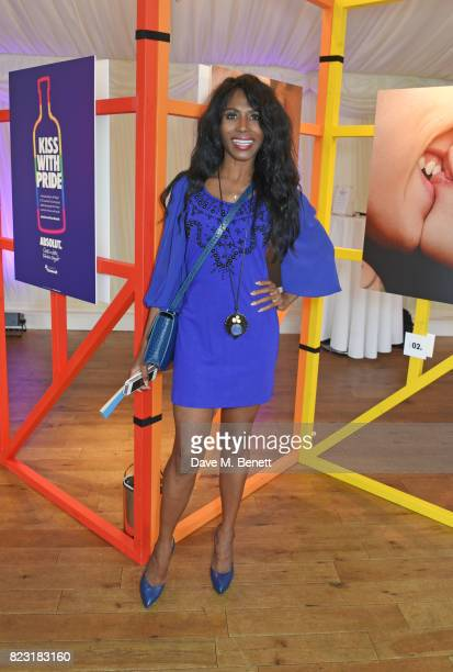 Sinitta attends Absolut's #KissWithPride event at the Houses of Parliament in celebration of the 50th anniversary of The Sexual Offences Act on July...