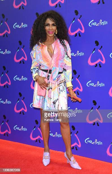 "Sinitta attends Andrew Lloyd Webber's ""Cinderella"" at Gillian Lynne Theatre on August 25, 2021 in London, England."