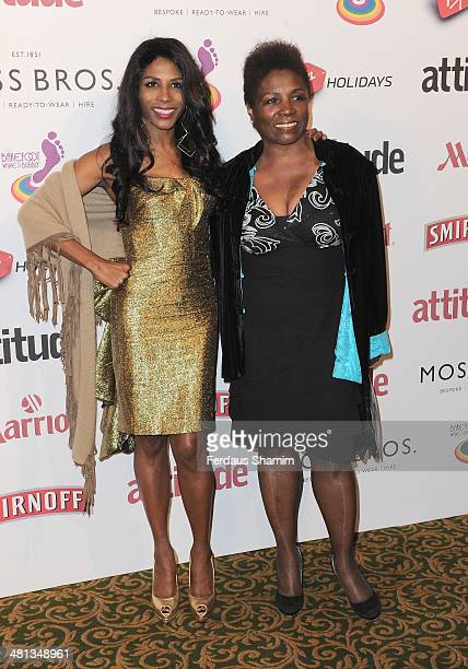 Sinitta attends the 20th birthday party of Attitude Magazine at The Grosvenor House Hotel on March 29 2014 in London England