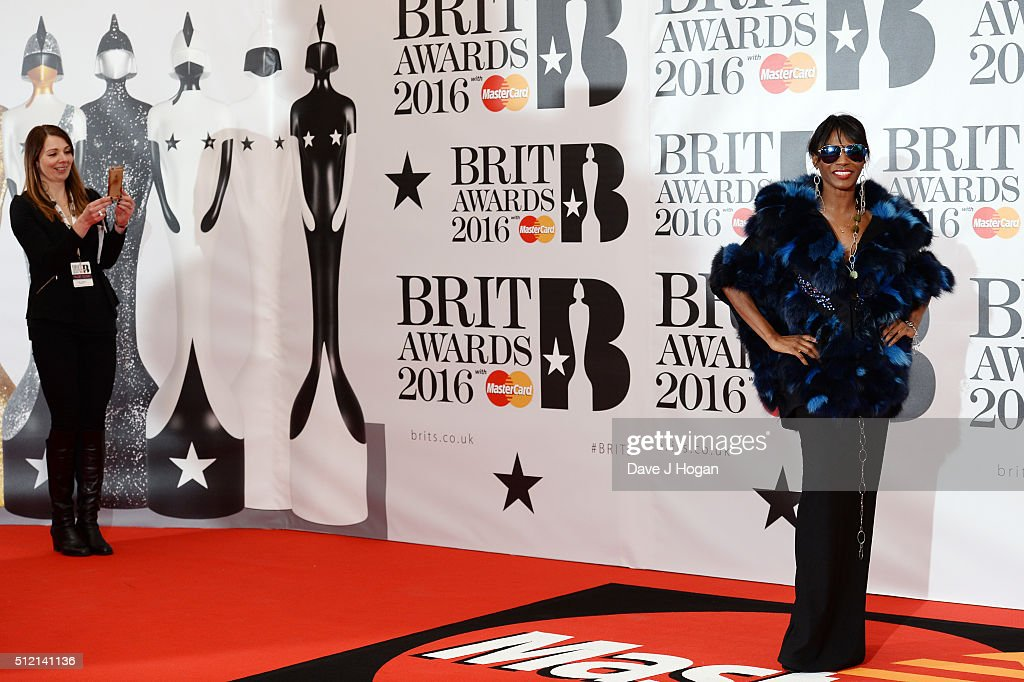 Sinitta (R) attends the BRIT Awards 2016 at The O2 Arena on February 24, 2016 in London, England.