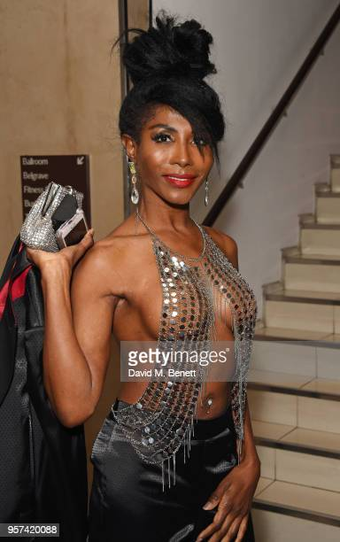 Sinitta attends the British LGBT Awards 2018 at the London Marriott Hotel, Grosvenor Square, on May 11, 2018 in London, England.