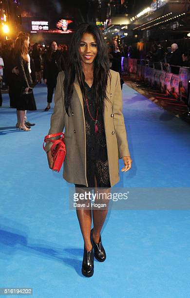 Sinitta attends the European premiere of 'Eddie The Eagle' at Odeon Leicester Square on March 17 2016 in London England