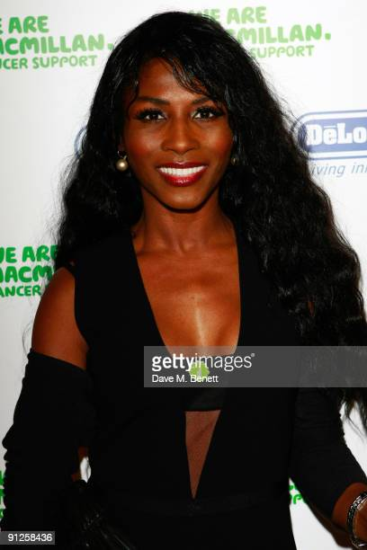Sinitta attends the Macmillan De'Longhi Art Auction 2009 at The Avenue on September 29 2009 in London England