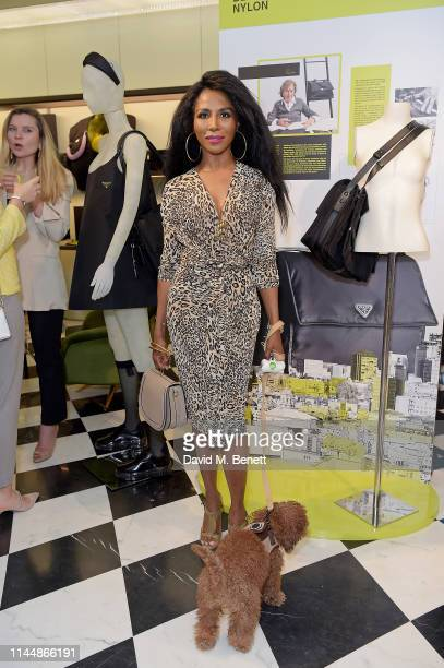 Sinitta attends the Prada Invites event on April 24 2019 in London England