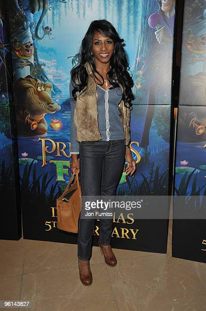 Sinitta attends The Princess And The Frog special event at The Mayfair Hotel on January 24 2010 in London England