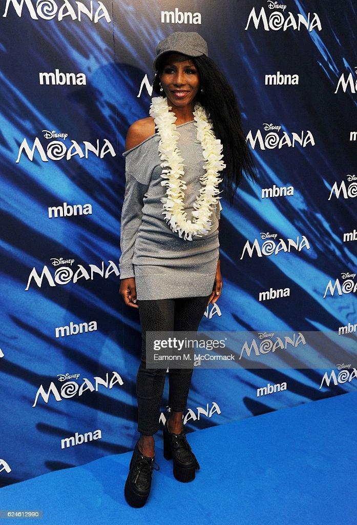Sinitta attends the UK Gala screening of 'MOANA' at BAFTA on November 20, 2016 in London, England.