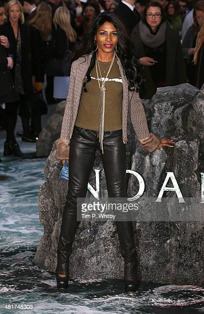 Sinitta attends the UK premiere of 'Noah' at Odeon Leicester Square on March 31 2014 in London England