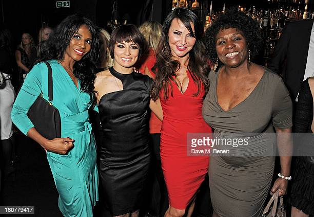 Sinitta Flavia Cacace Lizzie Cundy and Miquel Brown attend an after party following the press night performance of 'Midnight Tango' at Gaucho on...