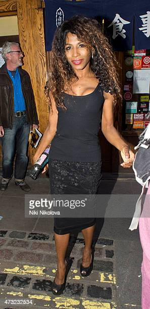 Sinitta is seen arriving at Style For Stroke Launch Party Soho on May 13 2015 in London England