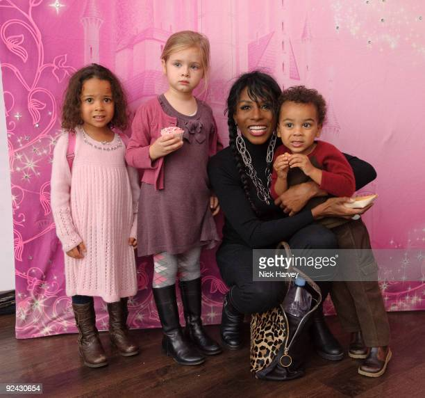 Sinitta Magdelena and Zac attends the VIP Launch of 'Disney On Ice Presents Princess Wishes' on October 28 2009 in London England
