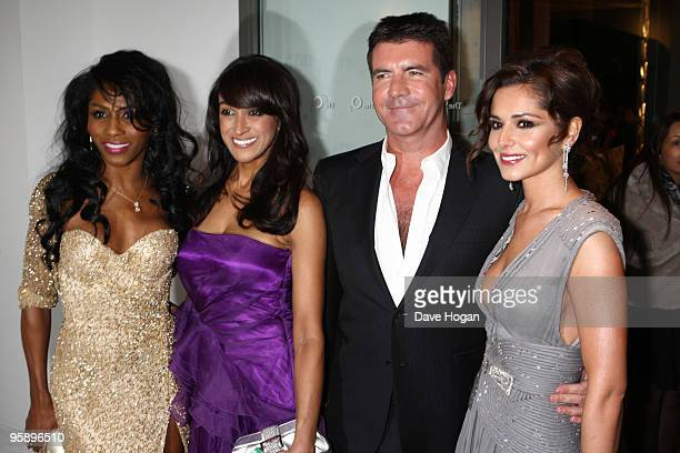 Sinitta Simon Cowell and Cheryl Cole arrive at the National Television Awards held the at The O2 Arena on January 20 2010 in London England
