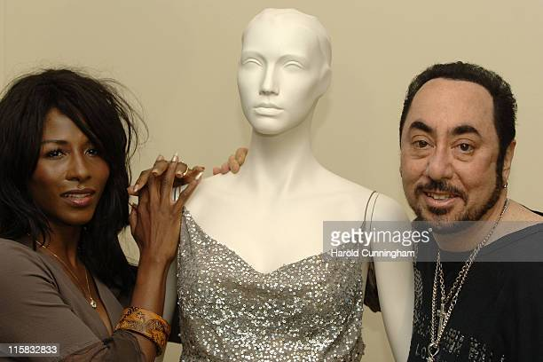 Sinitta Tina Turner's dress and David Gest during David Gest and Sinitta Become the New Ambassadors for the Caudwell Children Charity at Grosvenor...