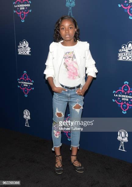 Siniyya Sidney attends the 20th Century Fox 2018 LA Screenings Gala at Fox Studio Lot on May 24 2018 in Century City California