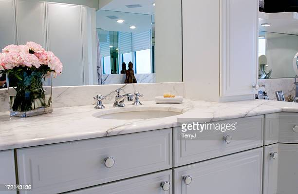 sink vanity - bathroom stock photos and pictures