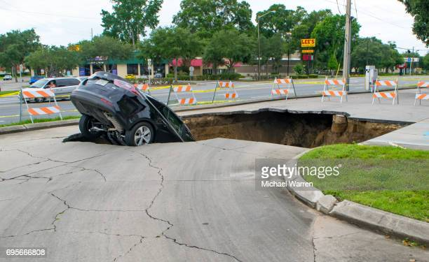Sinkhole Swallows a Car in Florida