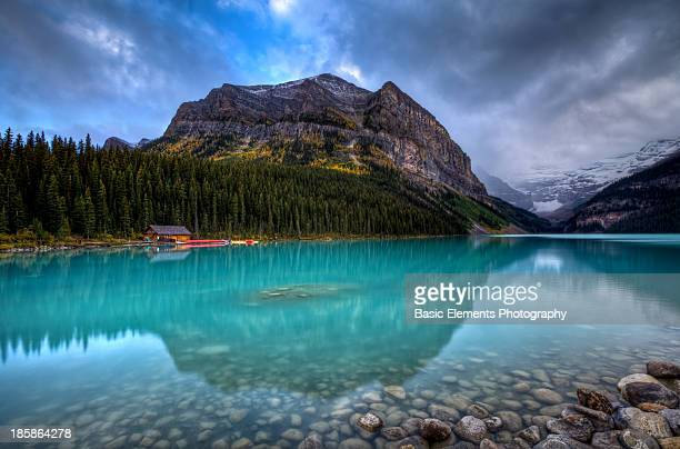 Sinking into Lake Louise