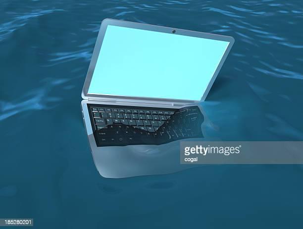 naufrágio de laptop - molhado - fotografias e filmes do acervo