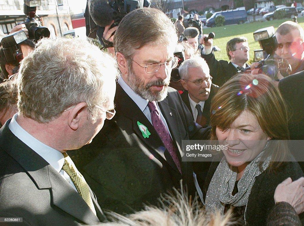 Gerry Adams Addresses Sinn Fein AGM In Dublin