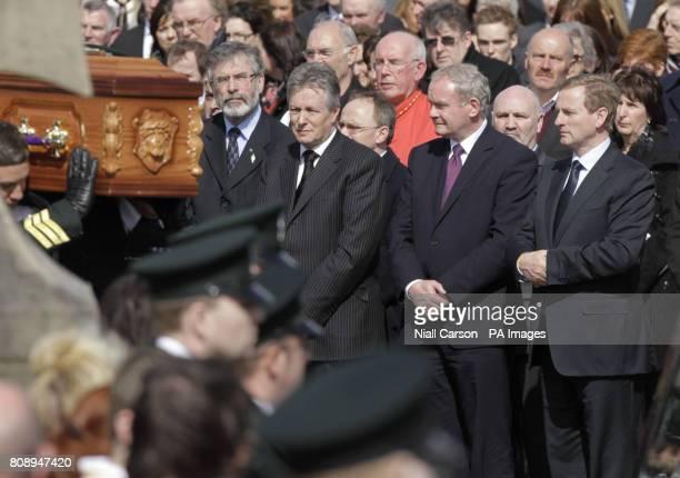 Sinn Fein Leader Gerry Adams, Northern Ireland First Minister Peter Robinson, Deputy First Minister Martin McGuinness and Taoiseach Enda Kenny...